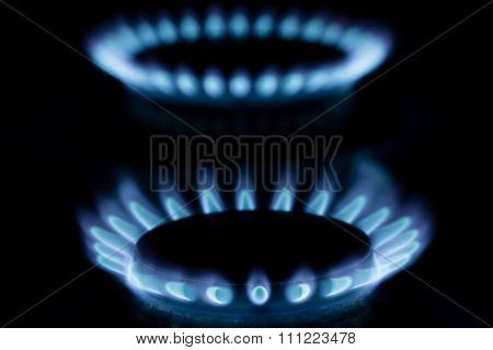 Stove gas fire flame