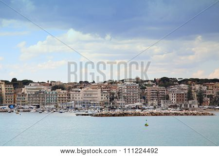 Panoramic View Of Anzio And Nettuno Old Town, Italia