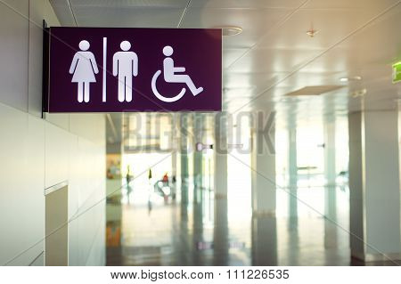 Public restroom signs