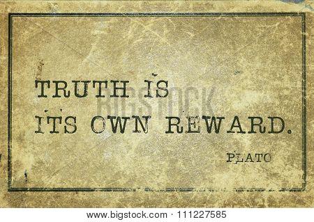 Truth Reward Plato