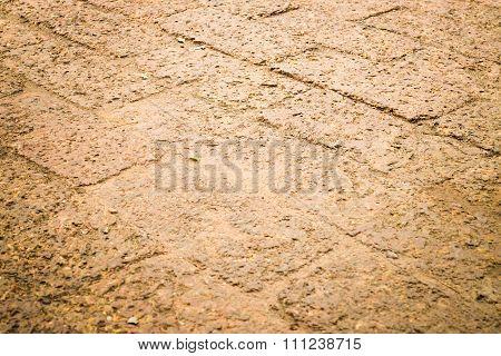 Dry Laterite Floor Texture Background