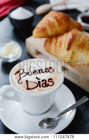 Breakfast Cappuccino Design - Buenos Dias