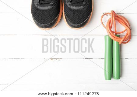 Running Shoes And Jumping Rope