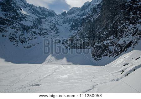 Winter mountain lake 3