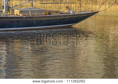 Elegant Boat At Puerto Madero In Buenos Aires Argentina-