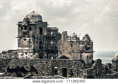 incredible india - the ruins from chittorgarh in india
