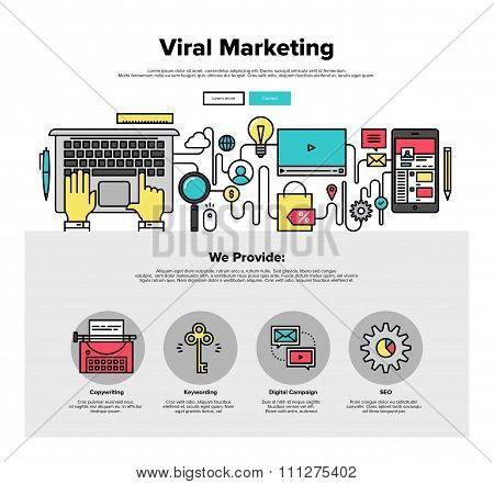 Viral Marketing Flat Line Web Graphics