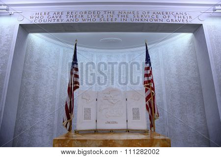 Nettuno - April 06: The Names Of Fallen Soldiers At War, American War Cemetery Of The American Milit
