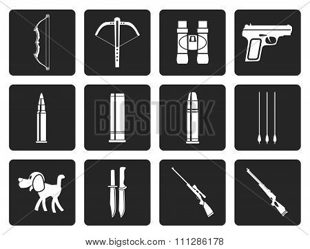 Black Hunting and arms Icons