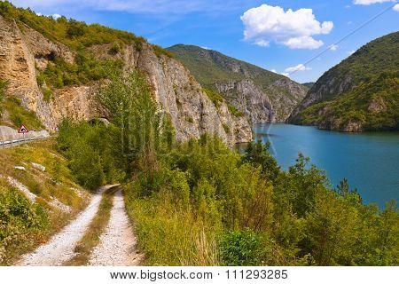 Drina river near Visegrad - Bosnia and Herzegovina - nature travel background