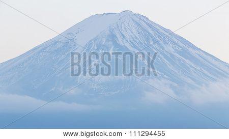 Close up Fuji Mountain (Fujisan)