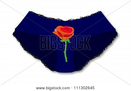 Knickers With Red Rose
