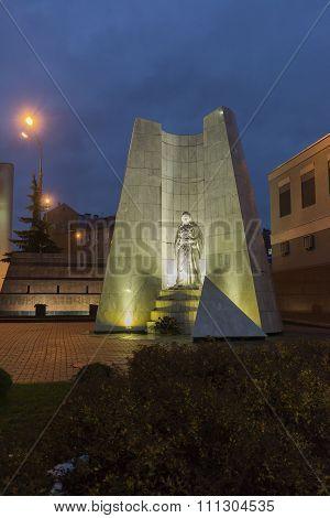Nizhny Novgorod, Russia - November 02. 2015. Stella memory policemen killed in Chechnya on  street M