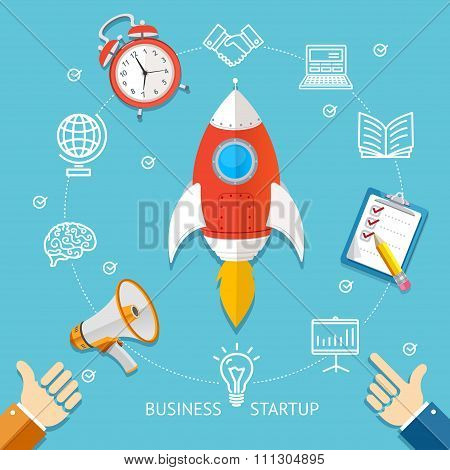 Business Startup Concept. Vector