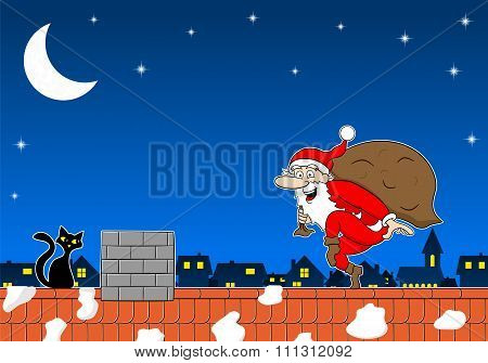 Santa Claus Goes On Tiptoe