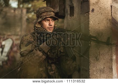 Soldier And Military Manoeuvres