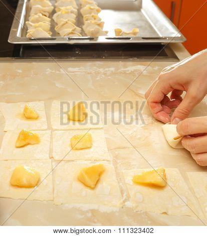 Baking Sweet Cakes Process