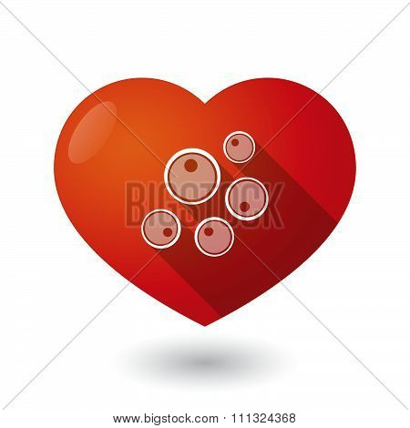 Isolated Red Heart With Oocytes