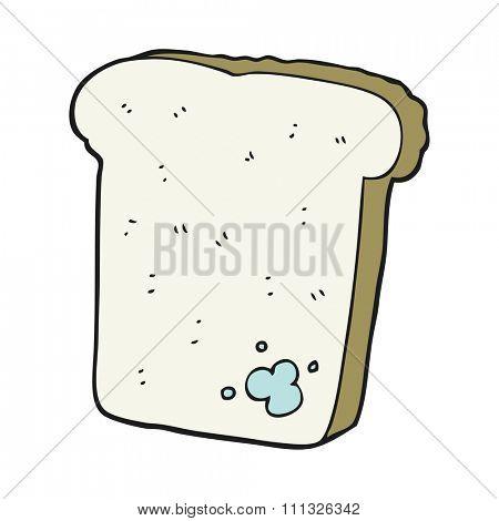 freehand drawn cartoon mouldy bread