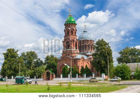 Summer landscape with Voznesensk church
