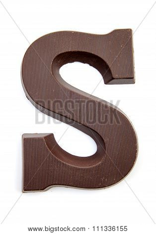 Chocolate Letter S For Sinterklaas