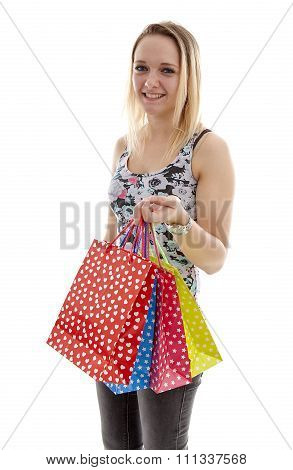 Young Attractive Girl Is Shopping