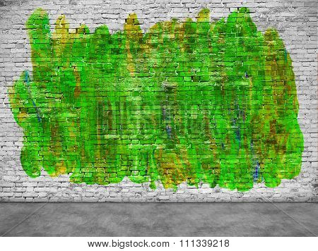 Abstract Green Graffiti
