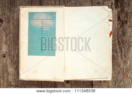 Library Book With Due Date Card