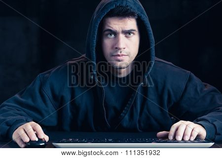 Young Cyber Warior In Hoody