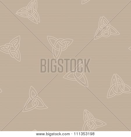 Seamless background with Celtic geometric ornament