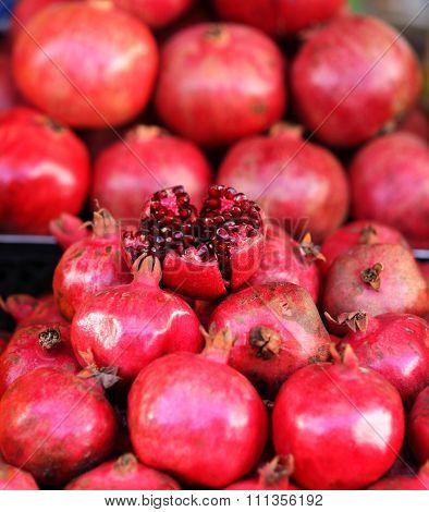 Close Up Of Pomegranates