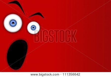 Funny cartoon expression face