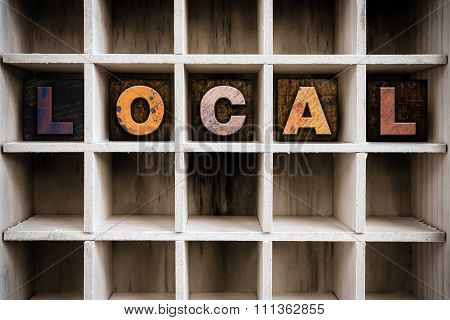 Local Concept Wooden Letterpress Type In Drawer