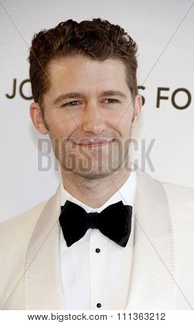 Matthew Morrison at the 21st Annual Elton John AIDS Foundation Oscar Party held at the Pacific Design Center in West Hollywood on February 24, 2013.