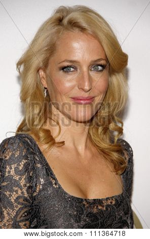 Gillian Anderson at the 25th Annual Producers Guild Awards held at the Beverly Hilton Hotel in Los Angeles in Los Angeles, California, United States on January 19, 2014.
