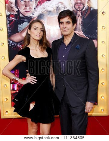 David Copperfield and Chloe Gosselin at the Los Angeles Premiere of