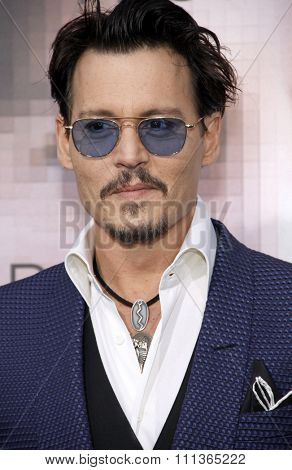 Johnny Depp at the Los Angeles premiere of