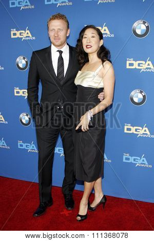 Sandra Oh and Kevin McKidd at the 66th Annual Directors Guild Of America Awards held at the Hyatt Regency Century Plaza Hotel in Los Angeles on January 25, 2014 in Los Angeles, California.