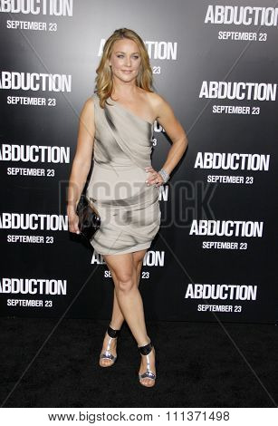 LOS ANGELES, USA - SEPTEMBER 15: Elisabeth R���¶hm at the Los Angeles premiere of 'Abduction' held at the Grauman's Chinese Theater in Hollywood, USA on September 15, 2011.