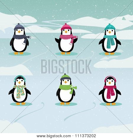 Festive Penguins