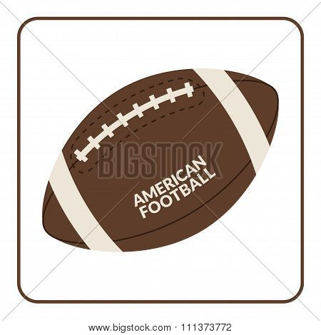 Ball For American Football Isolated On A White Background