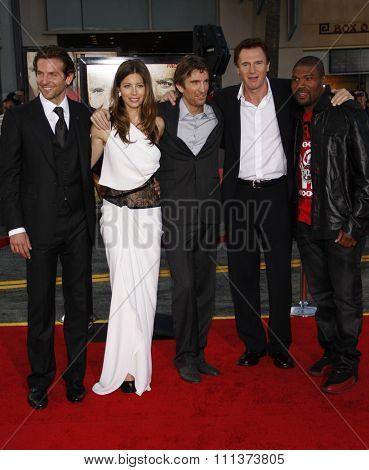 Bradley Cooper, Jessica Biel, Sharlto Copley, Liam Neeson and Quinton Jackson at the World Premiere of