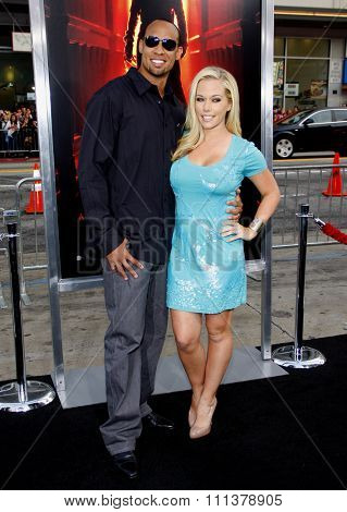 HOLLYWOOD, CALIFORNIA - April 27, 2010. Kendra Wilkinson and Hank Baskett at the World premiere of