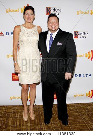 Chaz Bono and Mary Bono Mack at the 23rd Annual GLAAD Media Awards held at the Westin Bonaventure Hotel in Los Angeles, California, United States on April 21, 2012.