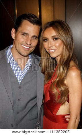 LOS ANGELES, CALIFORNIA - Tuesday May 23, 2012. Bill Rancic and Giuliana Rancic at the 37th Annual Gracie Awards Gala held at the Beverly Hilton Hotel, Los Angeles.