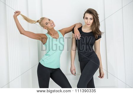 Two girls sports