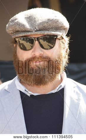 LOS ANGELES, USA - OCTOBER 23: Zach Galifianakis at the Los Angeles Premiere of