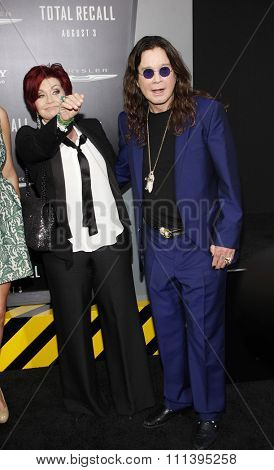Sharon Osbourne and Ozzy Osbourne at the Los Angeles premiere of