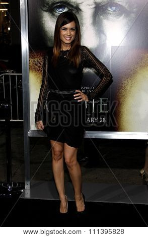 HOLLYWOOD, CALIFORNIA - Wednesday January 26, 2010. Torrey DeVitto at the Los Angeles premiere of