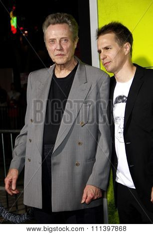 Sam Rockwell and Christopher Walken at the Los Angeles premiere of